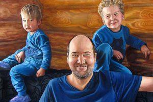 Классический - семейный портрет маслом